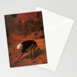 Untitled (The Creature) by Zdzisław Beksiński Stationery Cards