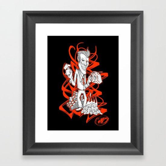 BURNER MONEY Framed Art Print