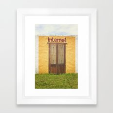 Internet Framed Art Print