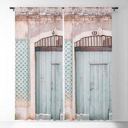 The mint door Blackout Curtain