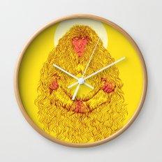 snow monk Wall Clock
