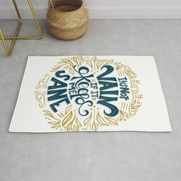 It's not vain if it keeps me sane - lettered quote Rug