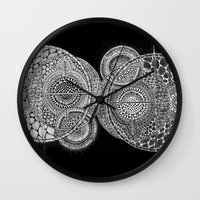 universe Wall Clocks featuring Universe by Luna Portnoi