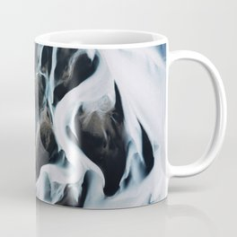 Aerial of an abstract River in Iceland Coffee Mug