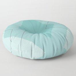 Teal Diamonds Floor Pillow