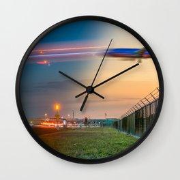Time Traveling Machine Wall Clock