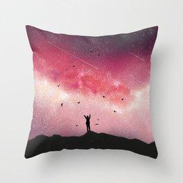 Stary Night Sky Galaxy Throw Pillow