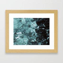 Ice jam Framed Art Print