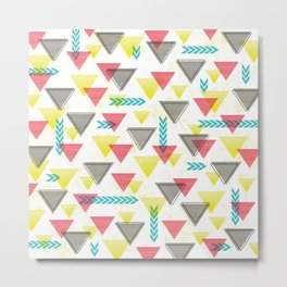 Wild Triangles Metal Print