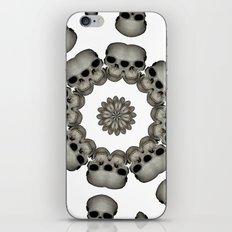 Creepy Human Skull Mandala iPhone & iPod Skin