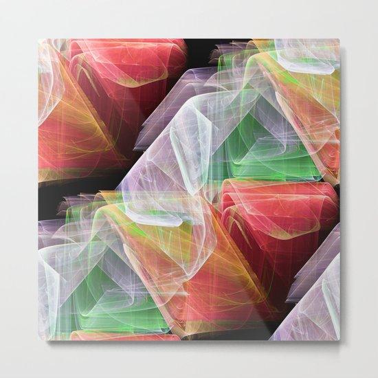 Transparent Layers Metal Print