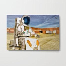 Attention Wal Mart Shoppers Metal Print