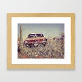 vintage mustang Framed Art Print