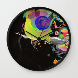 Colliding Nebulas Wall Clock