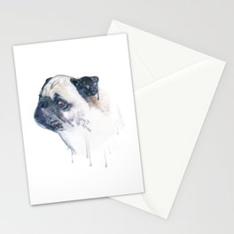 Pug Forest Stationery Cards