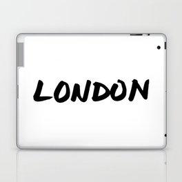 'London' Hand Letter Type Word Black & White Laptop & iPad Skin