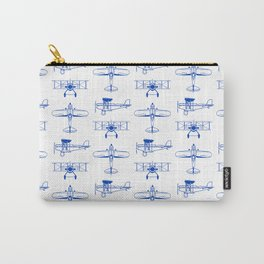 Blue Biplanes Carry-All Pouch