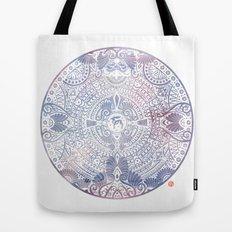 deer mandala (white) Tote Bag