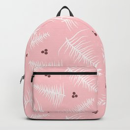 Fronds & Berries on Dusty Pink Backpack