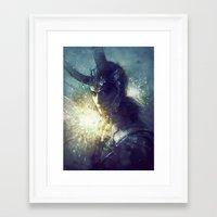 king Framed Art Prints featuring King by Anna Dittmann
