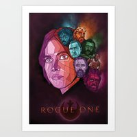 Rogue One Movie Poster Art Print