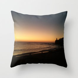 First light - Moffat Beach, Caloundra Australia Throw Pillow