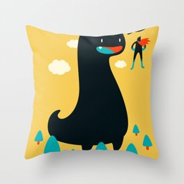 Safe from Harm Throw Pillow