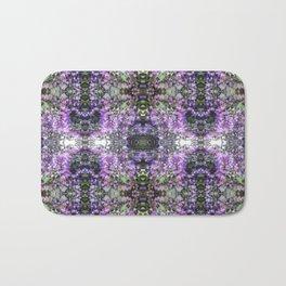 Purple Hedge Flower Multi Fractal Bath Mat