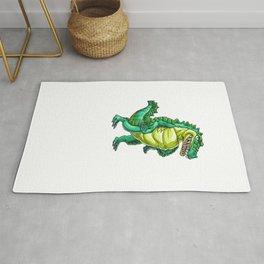 Crocodile Grandpa Alligator Reptile Animal Rug