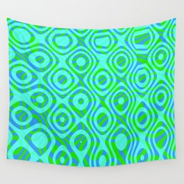 Mixed Polyps Green - Coral Reef Series 037 Wall Tapestry