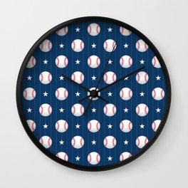 Baseball Pattern | Catcher Home-Run Team Pitcher Wall Clock