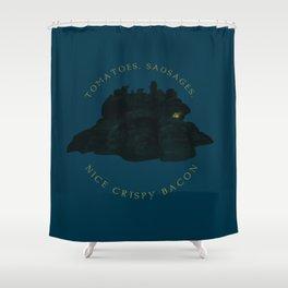 Nice Crispy Bacon Shower Curtain