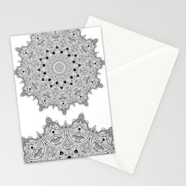 Stars and Stripes - Patriotic Mandala - Black and White - 'Merica! Stationery Cards