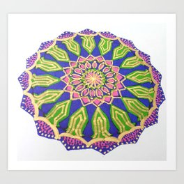 Colourful Spiritual Mandala Art Art Print