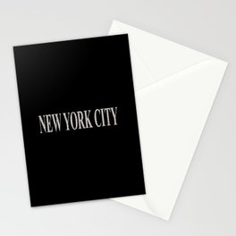 New York City (type in type on black) Stationery Cards