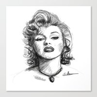 marylin monroe Canvas Prints featuring Marylin Monroe.... by Emiliano Morciano (Ateyo)