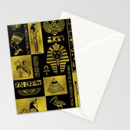 Ancient Egyptian Sphinx Anubis Hieroglyph Stationery Cards