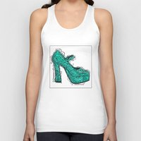 shoe Tank Tops featuring Shoe 2 by AstridJN