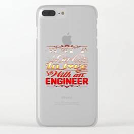 Love with an Engineer Clear iPhone Case