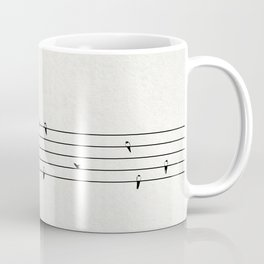 Music Score with Birds Coffee Mug