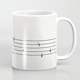 Music Score with Birds Coffee Mug