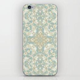 Soft Sage & Cream hand drawn floral pattern iPhone Skin