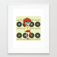 indie Framed Art Prints featuring Indie Girl by Irene Dose