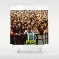 concert Shower Curtains featuring Concert Crowd by ThatRaulSanchez