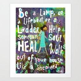 Be a Lamp Art Print