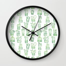 Cacti Collection Wall Clock