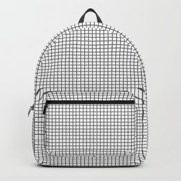 black and white tiny grid Backpack