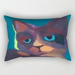 Think Cat Rectangular Pillow