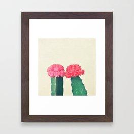 Plaid Cacti Framed Art Print