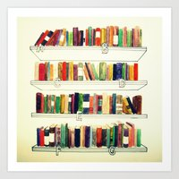 books Art Prints featuring Books by Ela Caglar